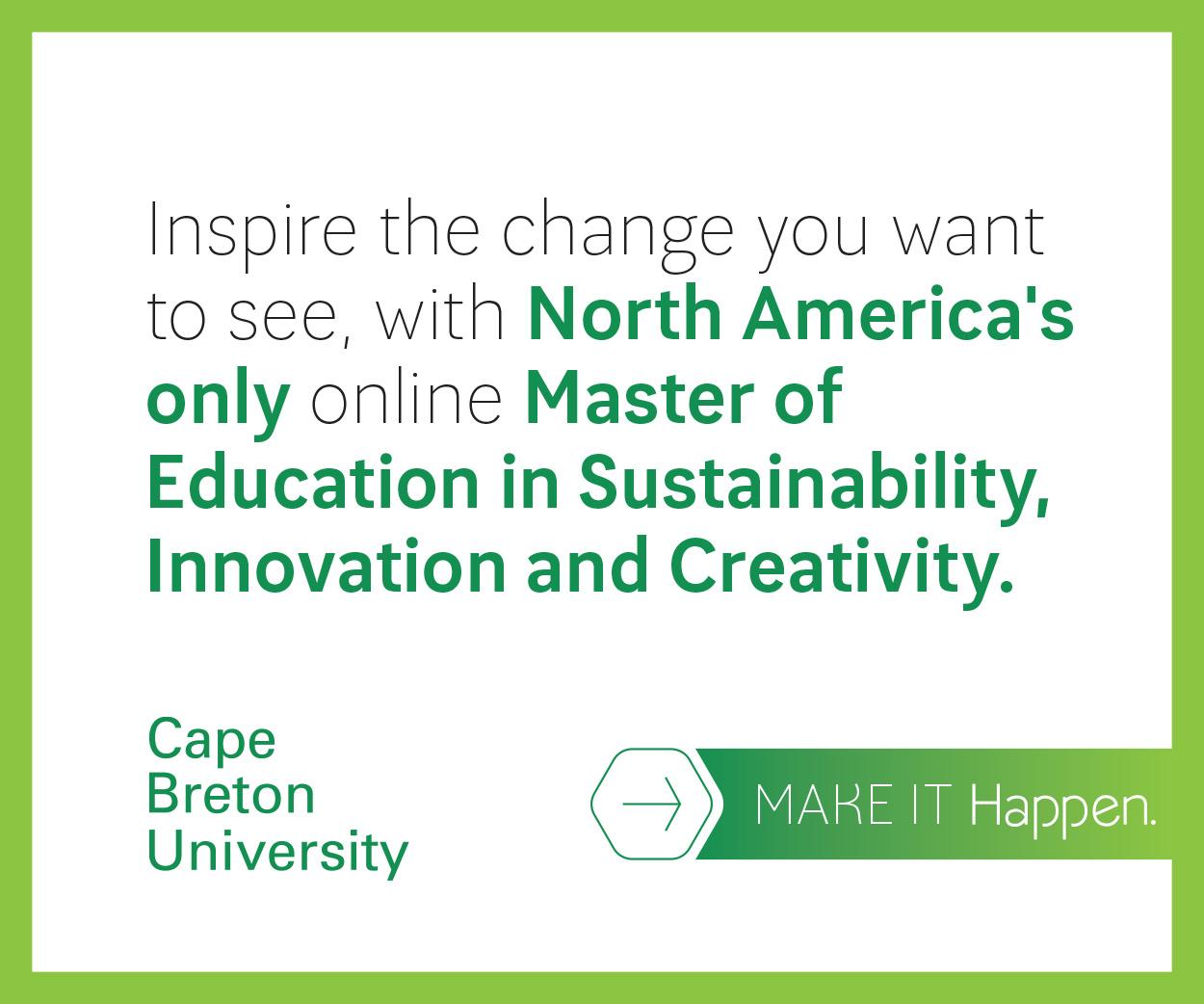Sustainable Future » Master of Education ...