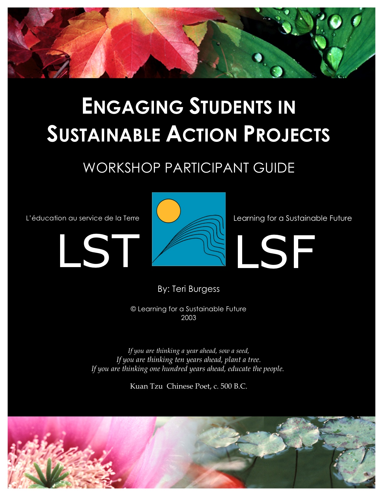Learning for a Sustainable Future » Engaging Students in ...