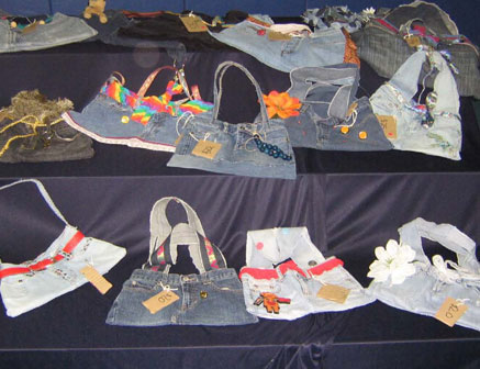 Montreal students from St. George's school turn their junky jeans into funky reusable bags!
